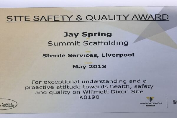 Safety and Quality Award
